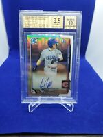 2015 IAN HAPP Bowman Chrome REFRACTOR Auto RC - BGS 9.5/10 - Gem Mint