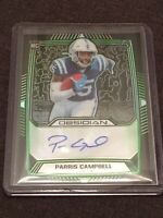 Paris Campbell 37/50 2019 Obsidian Rookie Auto Green Etch