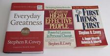 Lot 3 Stephen R Covey Books The 7 Habits of Highly Effective People Greatness