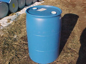 55 gallon Barrel Drum Plastic Water RAIN BLUE Barrels drum drums container