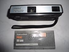 vintage PRINZ compact 110 Luxe pocket camera with instructions