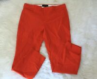 Banana Republic sz 10  Solid Red Orange Sloan Fit Cropped Pants career work wear
