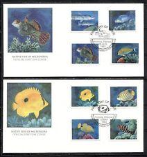SEA LIFE: NATIVE FISH OF MICRONESIA 1993 Scott 157,159,161-63,163A,164-65 on FDC