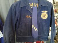 VTG FFA CORDUROY 1950s VOCATIONAL AGRICULTURE  WORK JACKET WASH.STATE SMALL+TI