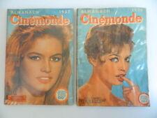 Lot ALMANACH CINEMONDE BRIGITTE BARDOT 1957 1958 TBE Cinéma Star Festival Cannes