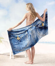 "New ""Blue Jeans"" Oversized Novelty Big Beach Towel Pockets Swim Pool Vacation"