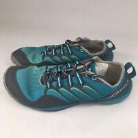 MERRELL Barefoot Womens Size 6 Lithe Glove Blue Running Workout Vibram EUC