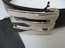 CALVIN KLEIN - CINTURA UOMO IN CUOIO NERO cm 110/125 ACCORCIABILE - cod011 NUOVO