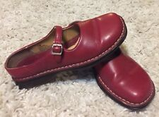Womens Brown's Landing Leather Mary Jane Sandal Shoe Red H-6533/ Emma Sz 7.5 M