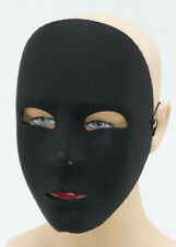 Black Full Faced Fabric Robot Mask