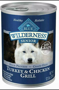 Blue Buffalo Wilderness Turkey & Chicken Grill Senior Wet Dog Food 12.5 oz 7cans