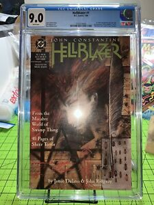 Hellblazer 1 CGC 9.0 White Pages (1988) First John Constantine in Series VF/NM