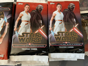 Topps Star Wars Trading Cards The Rise Of Skywalker 50 Sealed Packets