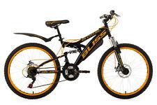 """24"""" Children's Mountain Bike Full Suspension """"BLISS"""" Black-Yellow 18 Speed 640K"""