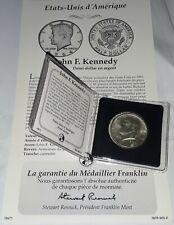 MONNAIE DEMI DOLLAR ARGENT JOHN F. KENNEDY 1964 CAPSULE ET CERTIFICAT