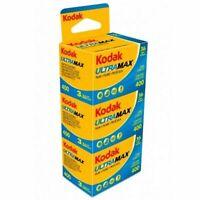 Kodak Ultra Max 400 36 Exposure 35mm color Film - 3 Pack