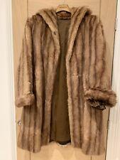 Real Fur Mink Coat Size 10/12 Vintage - Blonde