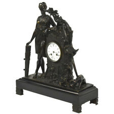 Exquisite Antique French Bronze Figural Clock, Diana goddess of the Hunt