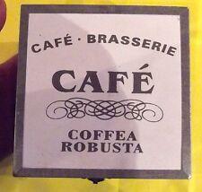 Ancien petit coffret bois cafe ,Brasserie ( COFFEE A ROBUSTA ) Deco loft cuisine