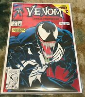 VENOM LETHAL PROTECTOR # 1 FEB 1993 NEAR MINT+ SIGNED BY MARK BAGLEY MARVEL