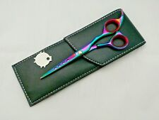 "Professional Sumato 5.5"" Multi Titanium Hairdressing Barber Scissors Pouch shear"