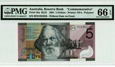 "2001 Australia $5 ""Commemorative"" PMG66 EPQ GEM <P-56a> @Polymer"