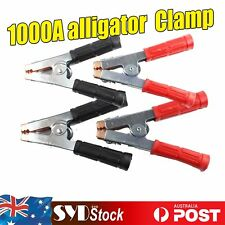 4pcs H/duty 1000A Alligator Test Lead Clamps AUTO UTE Jump Cable Star Booster
