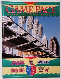1994 Cleveland Indians GameFace Program Inaugural Season GM1 @ Jacobs Field MINT