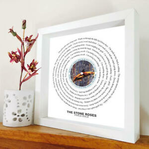 The Stone Roses - Fools Gold - Framed Lyrics Manchester Bands - Ian Brown - Mani