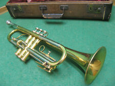 Davis Shuman and Son Angel Trumpet - Removable Bell - RARE! Case and Bach 5B MP