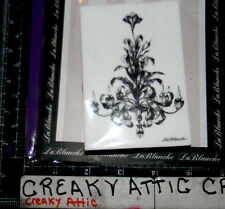 ORNATE CANDLEABRA LAMP LEAFY FOAM RUBBER STAMPS LABLANCHE #1385 NIP