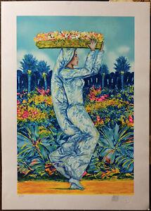 Quarto Andrea serigrafia materica Figura 70x50 firmata numerata 20/150 esemplari