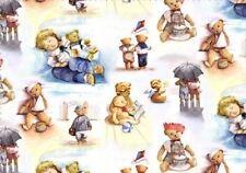 Children Nursey Story Fly Kite Sleeping Teddy Bear Cotton Fabric By The Yard