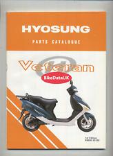 Hyosung EZ100 Veteran (1998-2004) Parts List Catalogue Manual Book EZ 100 DB92