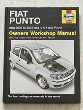 Haynes Manual 4746 - Fiat Punto, 2003 to 2007, petrol