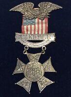 Rare 1882 US 7th Cavalry Medal..Cmdr.George Kiehle,handmade, great history