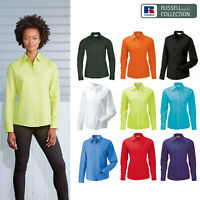 Russell Collection Women's Long Sleeve Polycotton Poplin Shirt R-934F-0