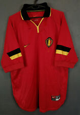 VINTAGE MEN'S NIKE BELGIUM 1998/2000 SOCCER FOOTBALL SHIRT JERSEY MAILLOT SIZE L