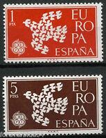 Spain 1961 SG 1432-1433  Mi 1266-7 MNH Europa Birds Doves
