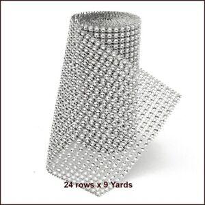24 Row 9 Yard Acrylic Rhinestone Diamond Ribbon for Wedding Cakes Arts and Craft