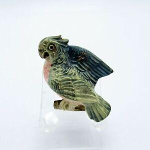 Antique Celluloid Parrot Sewing Tape Measure, NR