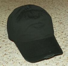 Distressed Look - Plain Baseball Cap - Ajustable Strap Baseball Hat - Black
