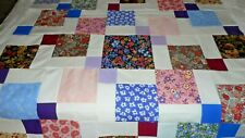 Meadow Path Borderless Unfinished  Baby Quilt Top  Crib Lap 42 sq.
