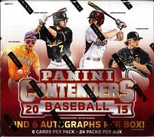 2015 Panini Contenders Baseball Factory Sealed Hobby Box (6 Autos) Judge, Happ