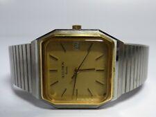 Vintage Bulova Accutron Square Quartz Swiss Date Wristwatch