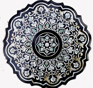 Marble Coffee Table Top with Decent Look Sofa Table Pietra Dura Art for Home