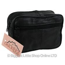 Nuevo Cinturón De Cuero Negro 2 cremalleras Cartera Hombre Bolsa Por Oakridge práctico Cámara Satnav