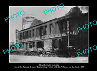 OLD POSTCARD SIZE PHOTO ADELAIDE SOUTH AUSTRALIA DUNCAN & FRASER FACTORY c1915