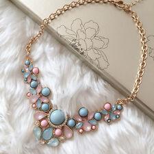Chunky Women Charm Pendant Chain Crystal Choker Statement Bib Necklace