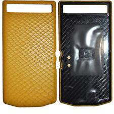 New Porsche Design Leather Battery Door Cover Python Yellow for Blackberry P9982